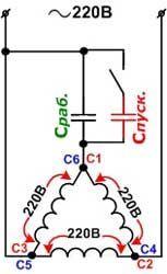 Как подключить трёхфазный электродвигатель в сеть 220В | Статьи электрика | Сайт электриков © skrutka.ru