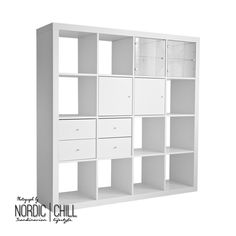 IKEA EXPEDIT Insert with 2 drawers, White – NORDIC CHILL