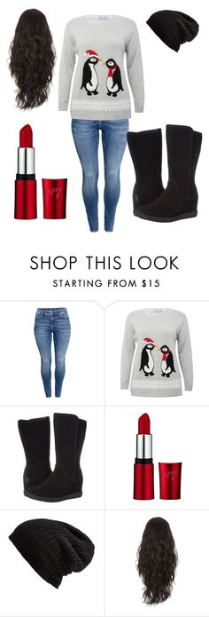 """""""Winter"""" by lightskinsquad12 ❤ liked on Polyvore featuring beauty, H&M, M&Co, Skechers and Free People"""