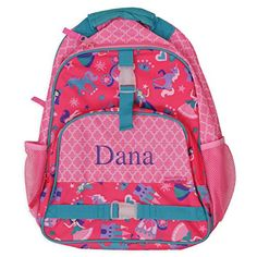 Personalized Princess Backpack 12 x 16 x 55 multiple pockets ID tag >>> This is an Amazon Affiliate link. Click image for more details.