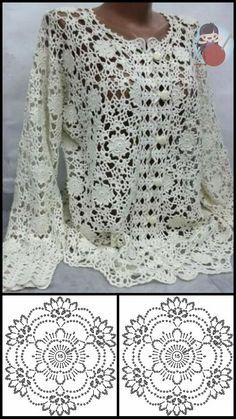 Free Crochet, Crochet Hats, Crochet Cardigan, Nice Dresses, Free Pattern, How To Wear, Tops, Women, Fashion