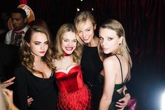 Cara Delevingne, Natalia Vodianova, Karlie Kloss and Taylor Swift