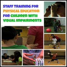 """VIDEO: """"Staff Training for Physical Education for Children With Visual Impairments"""" The purpose of this Staff Training Video for Physical Education is to educate paraeducators, physical education, adapted physical education, vision teachers, orientation and mobility specialists, and any other staff who teach children in physical education about how to instruct meaningfully during physical education. The video covers topics in physical education on types of visual impairments, human guide…"""