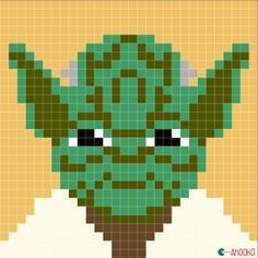 star wars crochet blanket by ahooka. star wars charts by ahooka Yoda Crochet Pixel, Star Wars Crochet, Graph Crochet, Crochet Stitches Free, Crochet Stars, Crochet Blanket Patterns, Pixel Crochet Blanket, Crochet Granny, Perle Hama Star Wars