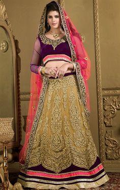 Picture of Melodic Beige Color Fashion Designer Choli