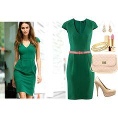 green dress, you'll stop traffic