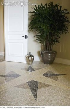 Mosaic Tile Compass Design On Floor Detail Floor Design, Tile Design, Tile Entryway, Compass Design, Tile Patterns, Image Photography, Mosaic Tiles, Royalty Free Photos, Floors