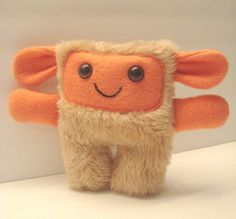 stuffed plush monster, furry monster - MarylouFrom DoodleDollies