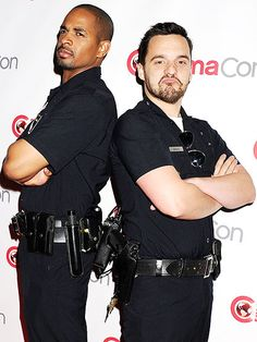 Star Tracks: Friday, March 28, 2014 | COP TO IT | Hello, officers! New Girl stars Damon Wayans, Jr. and Jake Johnson reunite to promote their new film Let's Be Cops, looking very much in character, at CinemaCon in Las Vegas on Thursday.