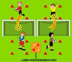 Coordination - Shooting Star - Kids Soccer - Soccer drills for kids from to - Soccer coaching with fantasy Soccer Drills For Kids, Soccer Practice, Soccer Skills, Kids Soccer, Soccer Stars, Soccer Games, Soccer Ball, Top Soccer, Pe Games