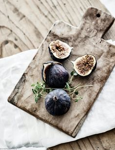 Figs. I think it is cool to have really pretty fruit or cheese out on the counter for guests. And this just looks so nonchalant.  -B