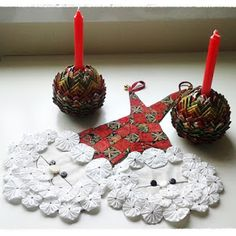 Tutorial guardatijeras 3 bolsillos - El taller de Natipatch Christmas Bags, Xmas, Christmas Ornaments, Holidays And Events, Ideias Fashion, Decoration, Patches, Quilts, Scrappy Quilts