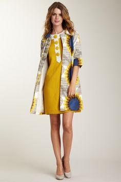 Orla Kiely Giant Sunflower Print Coat!!! How wonderful :)