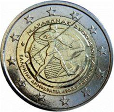 """Moneta Commemorativa """"2500° anniv. Battaglia di Maratona"""" Anno: 2010 Stato: Grecia"""