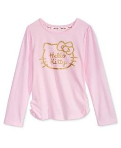 Hello Kitty Glitter Graphic-Print Shirt, Toddler Girls (2T-5T) - Pink 2T