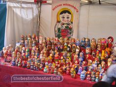 TBO Chesterfield Farmers Market Russian Dollies by Rob Andrews (thebestofchesterfield) on flickr. All rights reserved.
