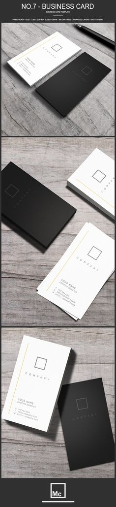 No.7 - Minimalist Business Card Template on Behance