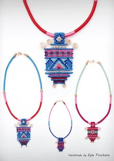 Handmade Jewelry, Fiber Statement Necklace, Pendant