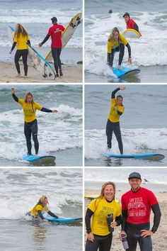 Watch the fun of Adult surf retreats Learn To Surf, The Good Place, San Diego, Surfing, School, Sports, Fun, Collection, Watch