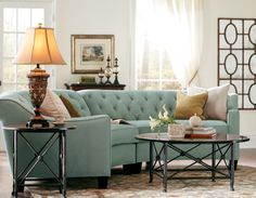 Curved and fabulous. The Riemann Curved Tufted Sectional is an updated twist on the classic. HomeDecorators.com