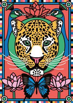 Season of Victory aka Linda Baritski is a London based illustrator, she creates illustrations and designs exploring her love of colorful pattern design. Art And Illustration, Arte Pop, Tropical Art, Tropical Design, Pop Art, Jungle Art, Graphic Art, Art Drawings, Street Art
