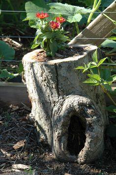 Hollow tree planter