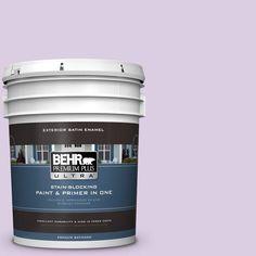 BEHR Premium Plus Ultra 5-gal. #660C-2 Violet Mist Satin Enamel Exterior Paint
