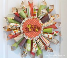 paper cone wreaths - Google Search