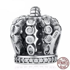 Cheap bracelet fine jewelry, Buy Quality bangles for women directly from China bracelets & bangles Suppliers: 925 Sterling Silver Fairytale Crown & Clear CZ Charms fit pan Bracelets & Bangles For Woman Fine DIY Jewelry Gift Pandora Bracelets, Bangle Bracelets, Bangles, Diy Jewelry Gifts, Pandora Rose Gold, Fine Jewelry, Jewelry Making, Jewelry Sets, Fitness Bracelet
