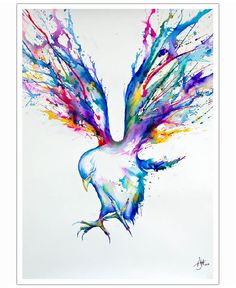 Colorful ink and watercolor paintings, drawings and illustrations by Marc Allante Art And Illustration, Animal Illustrations, Watercolor Illustration, Illustrations Posters, Art Paintings, Watercolor Paintings, Tinta China, Ouvrages D'art, Watercolor Bird