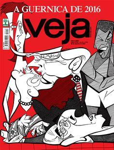 Em vez de cavalos, touros e mulheres chorosas em meio a um sofrimento excruciante, a ilustração de VEJA traz o fim fulminante de Dilma Rousseff, o triunfo assustador de Donald Trump, a ascensão de Michel Temer, o desespero incontido de Eduardo Cunha, Luiz Inácio Lula da Silva e Anthony Garotinho – e uma lágrima no rosto de todos os que morreram no ano (confira os nomes na legenda da imagem abaixo).