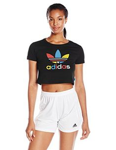 adidas Originals Womens Slim Cropped Tee BlackMulti Small >>> You can find out more details at the link of the image.(This is an Amazon affiliate link)