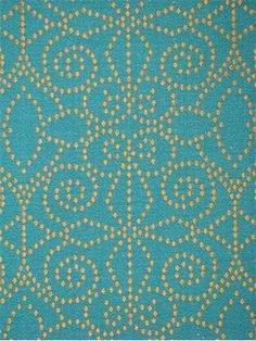 "Juno Aqua/ Gold:Duralee fabric, Suburban home fabrics, Jacquard fabric 100% polyester, V 27.5"", H 14.25"". Multi purpose decorator fabric."