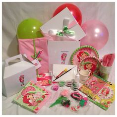 Strawberry Shortcake Themed Party Box