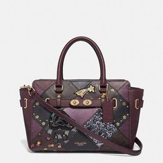 d6758fca65 Coach Blake Carryall 25 with Lucky Star Patchwork Raspberry Multi/Light  Gold Leather Satchel - Tradesy