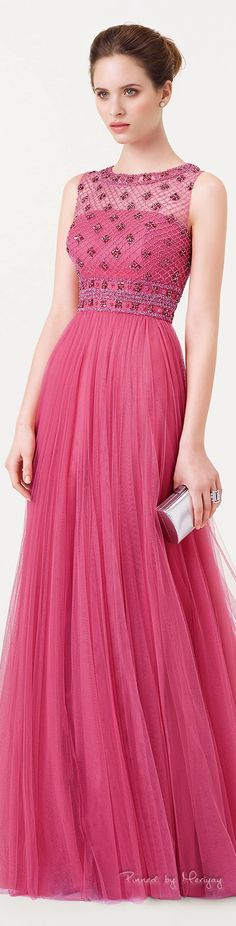 Light pink long dress by Aire Barcelona. Lovely Dresses, Beautiful Gowns, Elegant Dresses, Beautiful Outfits, Pink Fashion, Fashion Dresses, Pink Dress, Dress Up, Lace Dresses