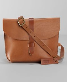 Levi's Crafted Leather Saddle Bag - Camel - Bags & Wallets