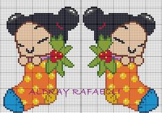 Christmas Pucca perler bead pattern by Drayzinha