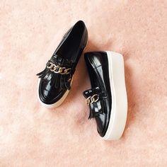 Chain Flatform Loafers #pixiemarket