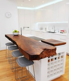 Supreme Kitchen Remodeling Choosing Your New Kitchen Countertops Ideas. Mind Blowing Kitchen Remodeling Choosing Your New Kitchen Countertops Ideas. Wood Slab Countertop, Live Edge Countertop, Cement Counter, Hardwood Countertops, Stone Countertops, Wooden Kitchen Countertops, Kitchen Worktops, White Countertops, Laminate Flooring