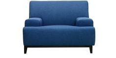 Palmira Single Seater Sofa in Cobalt Blue Colour by CasaCraft by CasaCraft Online - Fabric - Furniture - Pepperfry Product