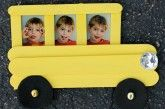 Adorable Popsicle Stick Bus Photo Frame