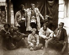 Here for your browsing pleasure is an original picture of Croats in Crimean War. It was taken between 1855 and 1865 by Fenton, Roger, The image shows A group of Croat laborers, seated and standing in front of building. World History Facts, History Quotes, Istanbul, Crimean War, Graf, Alternate History, Imperial Russia, King Of Kings, Victorian Era
