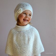2 PATTERNS Amazing crochet hat beanie with rose & capelet cape poncho Pattern for baby, toddler, girls and woman