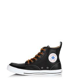 Women's black leather hi-tops Sale - Converse