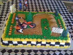Motocross Birthday Cake on Cake Central Motocross Birthday Party, Bike Birthday Parties, Dirt Bike Birthday, Birthday Themes For Boys, Birthday Fun, Birthday Decorations, Birthday Ideas, Birthday Cakes, Dirt Bike Cakes