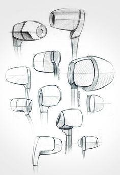 earphones / earplugs /sketch / exploration / quick doodles / in - ear / behance… Sketch Design, 3d Design, Logo Design, Graphic Design, Sketch Inspiration, Design Inspiration, Structural Drawing, Industrial Flooring, Industrial Wallpaper