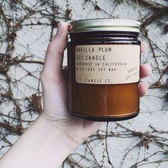 Never enough beautiful smelling soy candles ❤️  vanilla plum // www.shopanomie.com