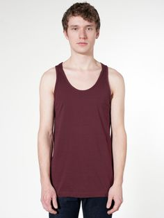 83817b86e5c2e0 American Apparel Men Fine Jersey Tank Size L Truffle  This tank features a  nice loose drape perfect for the summer heat or for layering.