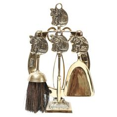 One Kings Lane! Diminutive Equine Fireplace Tools Set $275